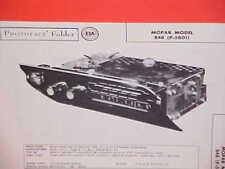 1958 PLYMOUTH BELVEDERE CONVERTIBLE FURY SAVOY PLAZA AM RADIO SERVICE MANUAL 1