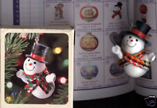 HALLMARK 1981 Christmas JOLLY SNOWMAN Ornament w/ BOX