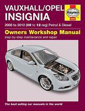 Haynes Manual Vauxhall Insignia OPEL INSIGNIA 2008-2012 5563 NUEVO