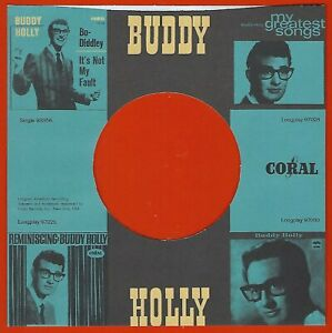 BUDDY HOLLY / CORAL - REPRODUCTION RECORD COMPANY SLEEVES - (pack of 10)