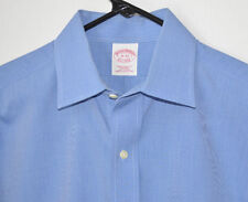Brooks Brothers Shirt Blue Tradional Fit French Cuff Non-Iron Cotton Men's 15-33