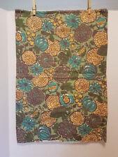 "Vintage 1960's era Handmade Pillow Cover RETRO 15 1/2""W x 23""  FABRIC for CRAFTS"