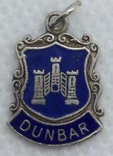 Rare Vintage Sterling Silver Blue Enamel DUNBAR Charm. Full U.K. Hallmark.