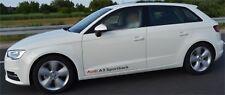 2x Audi A3 Sportback Aufkleber  Logo Simbol auf der Seite, usw. A3, S3