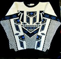 rare! Vintage NUOVO INDUSTRIALE Men's Geometric Knit Pullover Sweater Size XL