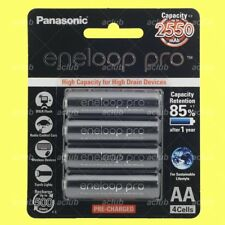 4x Panasonic eneloop pro Rechargeable AA Cell Battery 2550mAh NiMH 500 Cycle HR6