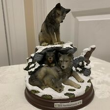 Protectors of the Pack Harmony Wolf Family Statue Bradford Exchange Winter