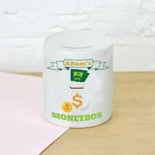 Personalised Any Name Money Savings Children Funny Money Box Printed Gift