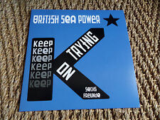 """British Sea Power - Keep On Trying 7"""" RED Vinyl Record Store Day 2017 RARE!"""