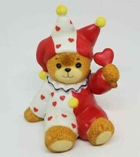 Lucy and Me Valentine Lucy Rigg 1984 Enesco Jester Clown Heart Valentine Bear