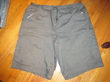Women's Studio Works Black/Gray Striped Shorts Part Elastic Waist Size 24 W VGC