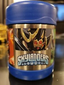 Skylander Thermos Funtainer Stainless Steel Insulated 10 oz. Food Jar EUC