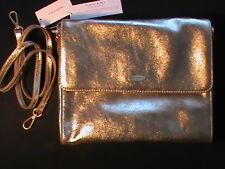 ELIE TAHARI genuine real leather gold cross-body shoulder bag purse handbag NWT