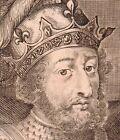 Gravure XVIIe Nicolas de Larmessin Raoul de Bourgogne Rodolphe Roi de France