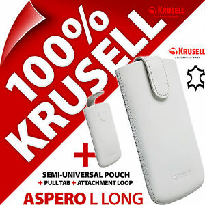 New Krusell Aspero L Long GENUINE LEATHER Mobile Pull-Up Pouch Case Cover Sleeve