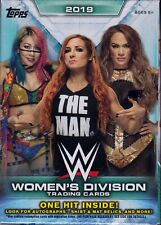 2019 Topps WWE Women's Division sealed blaster box 10 packs 7 cards 1 card bonus