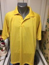 Cornerstone Men'S Tactical Polo Golf Shirt Size Large Yellow Polyester