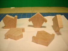 5 NEW CHICKADEE CHALET  2''H X 2 1/2''L X 1/2''W UNFINISHED WOOD (CO7350)