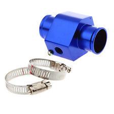 Universal 32mm Water Temp Gauge Joint Pipe Sensor Radiator Hose Adapter Blue