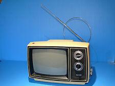 "Vintage 1975  Sharp 3M-45 Portable Black & White 9""  TV Working Free Shipping"