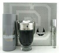 Invictus by Paco Rabanne SET: 3.4 oz & 10 ml EDT Spray + 5.1 oz Deo Spray. New