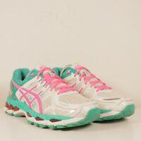 Asics Gel Kayano 21 Womens White Pink Green Running Training Shoes Sz 7.5