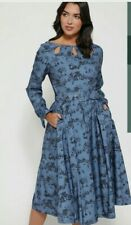 Lindy Bop Laurel Dress Winter Toile UK 18 New!