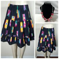 Vintage Women's Skirt Native American Southwestern Full Tiered Matching Necklace
