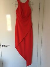 Ladies formal dress red halter neck size 8