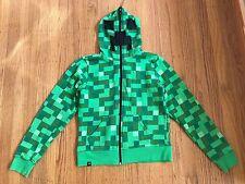 J!NX MINECRAFT CREEPER Boys Green Hoodie sz YL (9-10)