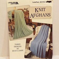Knit Afghans 3 Patterns Knitting Crochet Crafts By Jean Lampe
