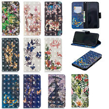 Leather Magnetic Flip Wallet Case Cover For Samsung galaxy S9 plus A6 plus