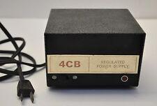 Vintage 4CB Regulated Power Supply 3 Amp 12V DC for HAM / CB Radios