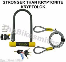 "OnGuard Bulldog DT 4.5""x9 Bike ULock & 4' Cable fit Kryptonite Kryptolok Series2"