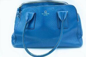 KATE SPADE Pebbled Leather Blue tote satchel handbag