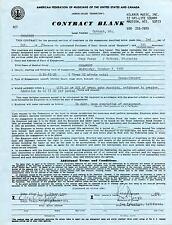 CROWFOOT ROCK GROUP / RICK JAEGER SIGNED 1970 CONCERT CONTRACT AUTOGRAPH