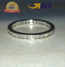 Anello Veretta  oro bianco 18 kt e diamanti naturali 0,50 ct - San Valentino