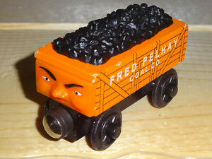 Fred Coal Car Thomas the Train Rare 1997 Wooden Railway Friends Excelllent Condi