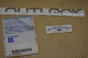 2007-2010 Saturn Outlook Liftgate Rear Chrome Emblem Outlook new OEM 10394269
