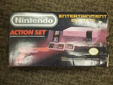 Vintage Nintendo Entertainment System Console Box and Manual Only Action Set