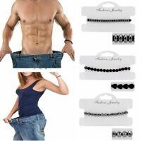 Adjustable Magnetic Hematite Beads Bracelet Bangle Healing Lose Weight Men Women