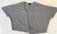 Chaser Grey 100% Cashmere Drape Batwing Cardigan Sweater Size L Feathers