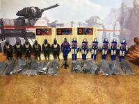 GI Joe 2003 Convention Cobra Commander + 6 Black Dragon Trooper + 6 Swamp Viper