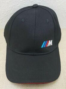 Solid Black Baseball Cap BMW M Performance Logo Hat Men Adjustable, Unisex