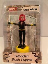 B5 Marvel Comics Avengers Black Widow Wooden Push Puppet MOC Entertainment Earth