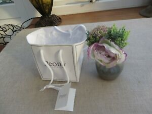 Peony England pretty artificial flowers in gift bag with glass vase Peony.co.uk