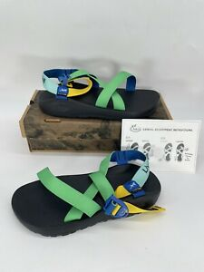 Chaco Colorful LivWell Marijuana Dispensary Event Men's Sandals Size 11 RARE