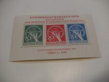 Berlin 1949 Block 1 Währungsgeschädigte ** postfrisch geprüft Schlegel BPP