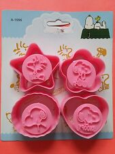 Snoopy Peanuts Woodstock Cookie Jam Biscuit Cutter Stamp Mould 4PCS Set