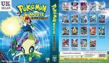 ANIME Pokemon Complete 19 Movies ENGLISH Collection Box Set - BRAND NEW UK POST